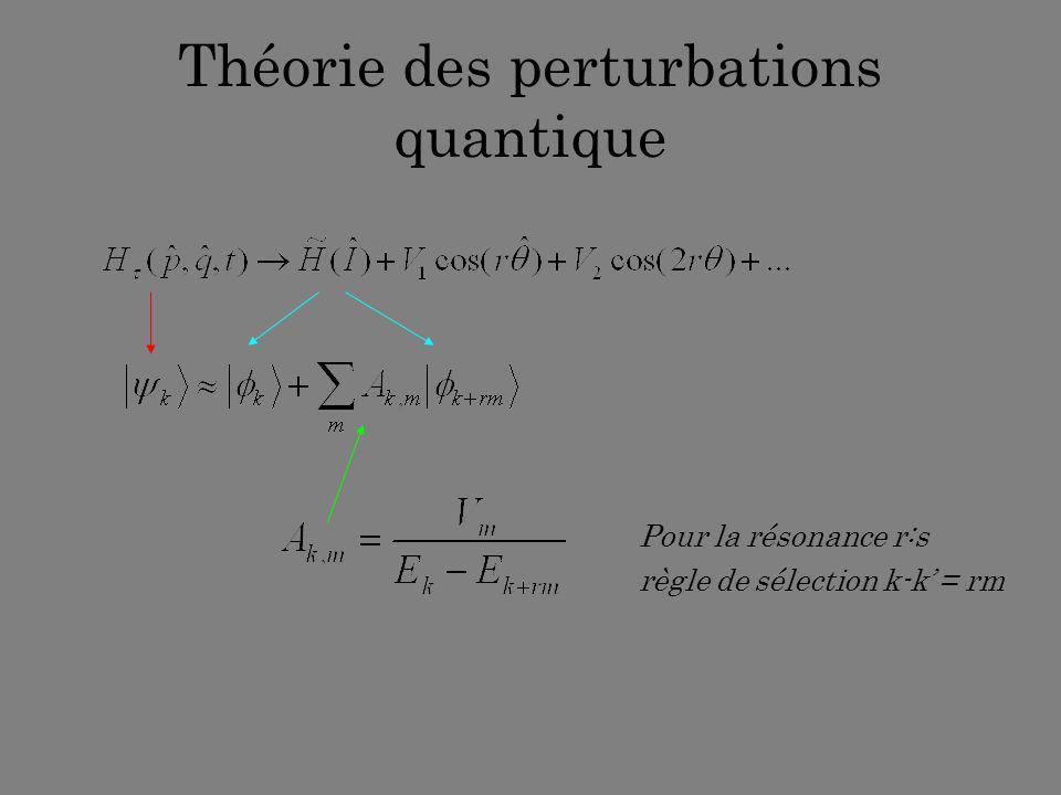 Théorie des perturbations quantique