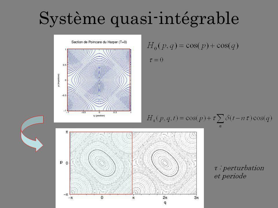 Système quasi-intégrable