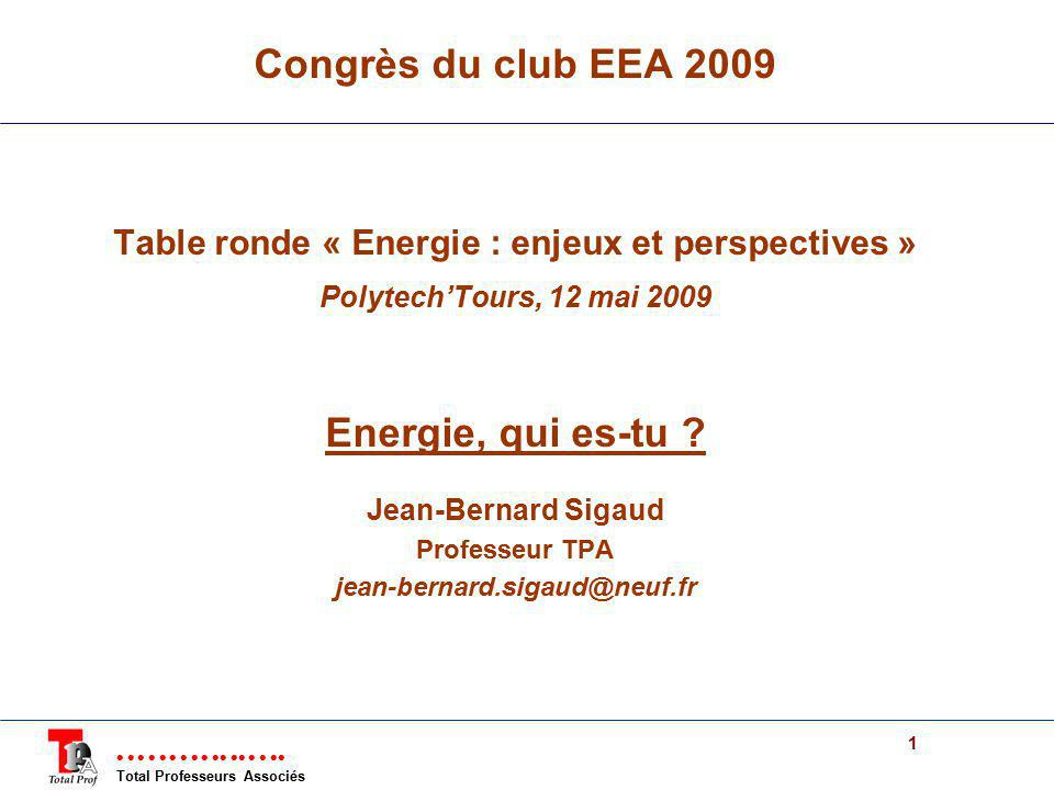 Table ronde « Energie : enjeux et perspectives »