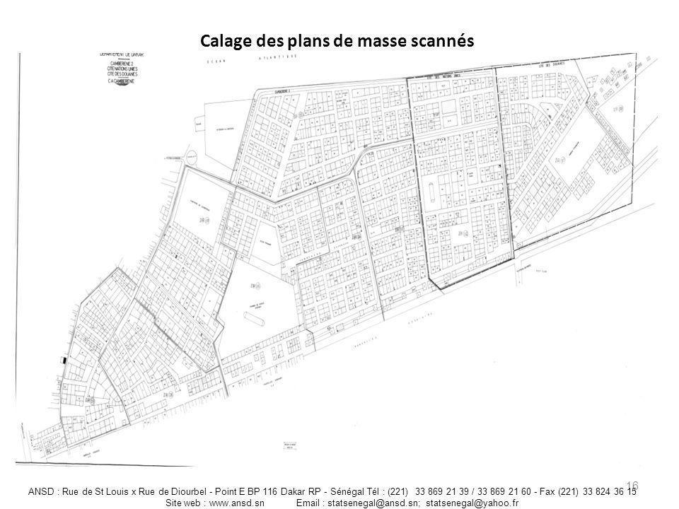 Calage des plans de masse scannés