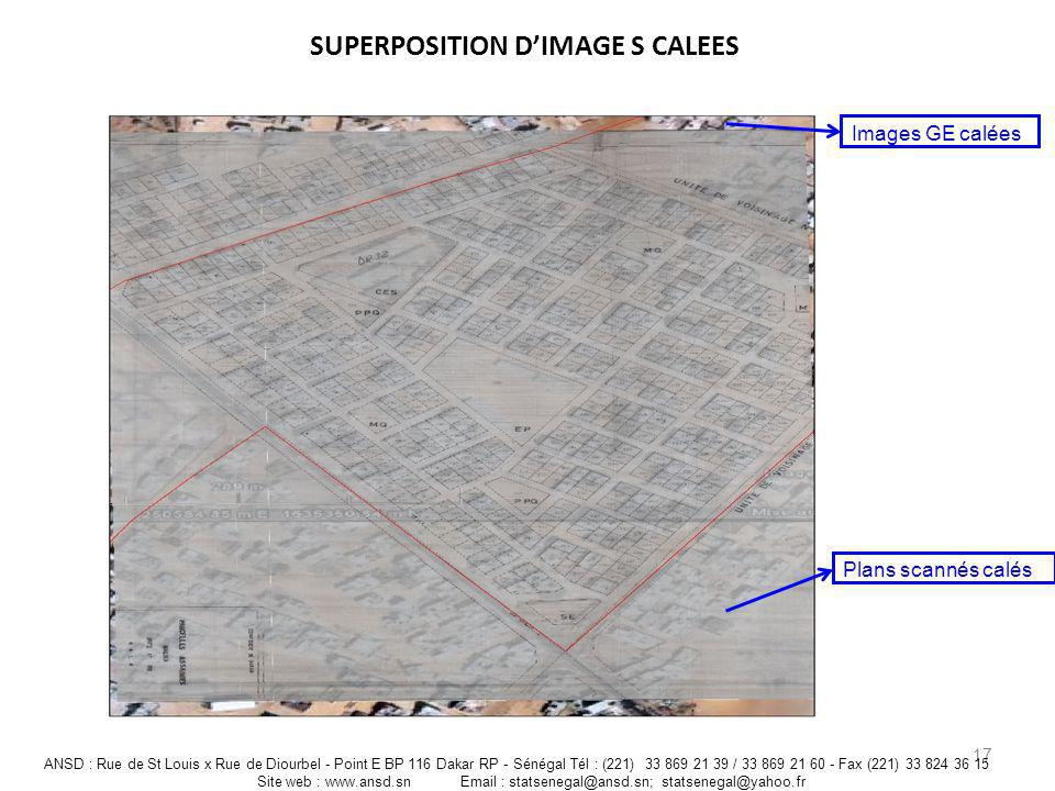 SUPERPOSITION D'IMAGE S CALEES