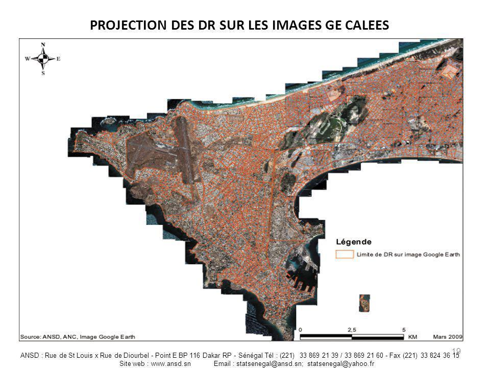 PROJECTION DES DR SUR LES IMAGES GE CALEES