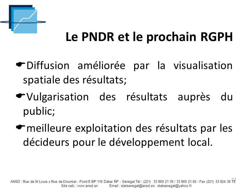 Le PNDR et le prochain RGPH