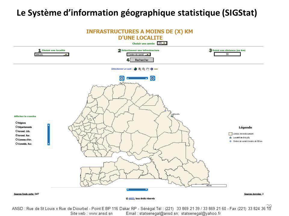Le Système d'information géographique statistique (SIGStat)