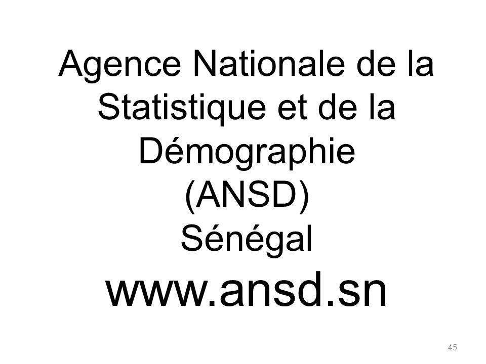 Agence Nationale de la Statistique et de la Démographie