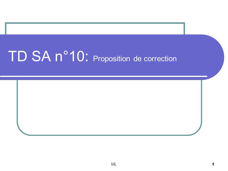 TD SA n°10: Proposition de correction