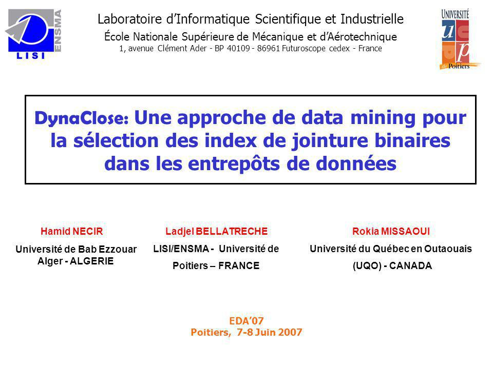 DynaClose: Une approche de data mining pour la sélection des index de jointure binaires dans les entrepôts de données