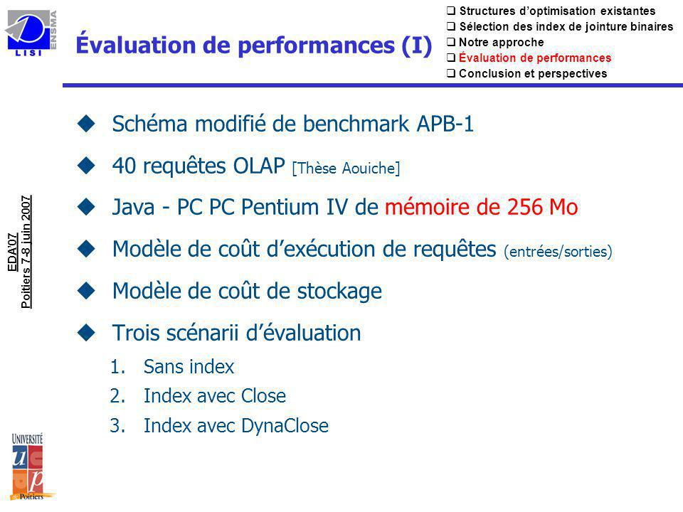 Évaluation de performances (I)