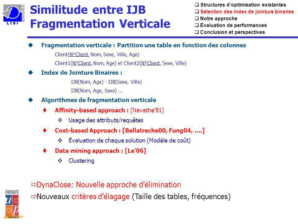 Similitude entre IJB Fragmentation Verticale