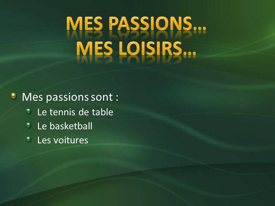 Mes Passions… Mes loisirs…