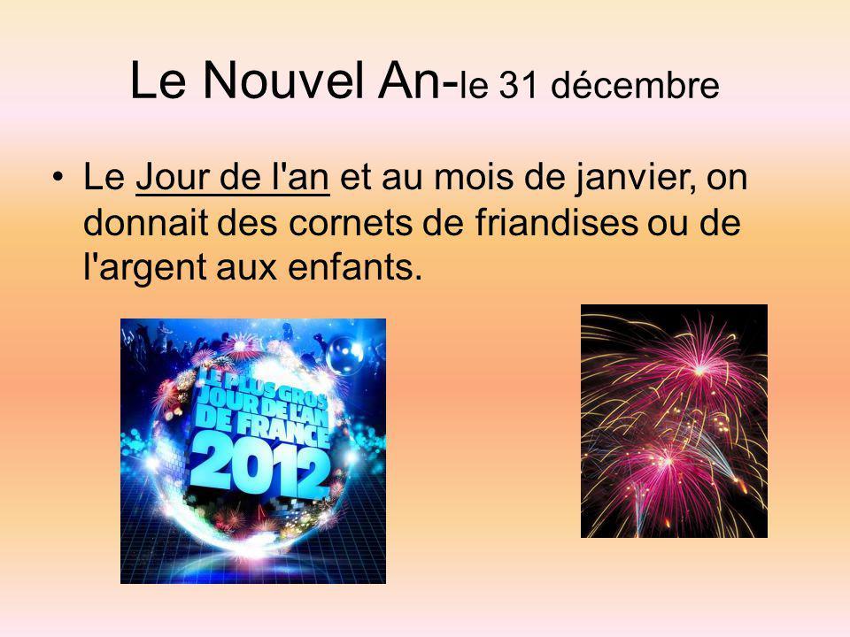 Le Nouvel An-le 31 décembre
