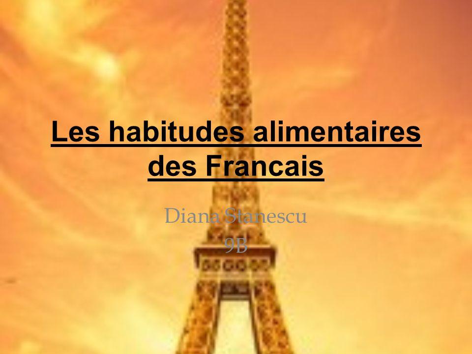 Les habitudes alimentaires des Francais