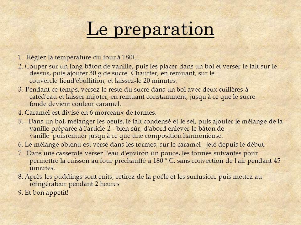 Le preparation