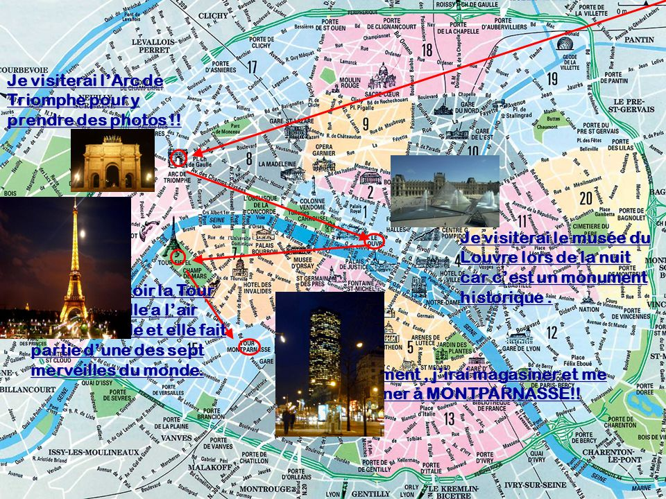 Je visiterai l'Arc de Triomphe pour y prendre des photos !!