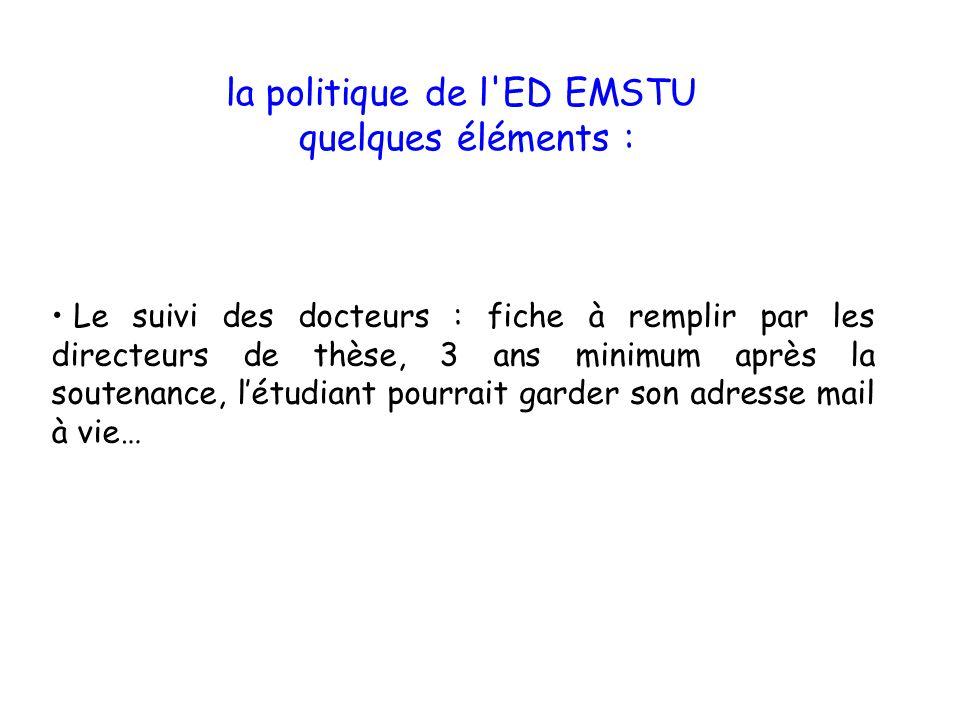 la politique de l ED EMSTU