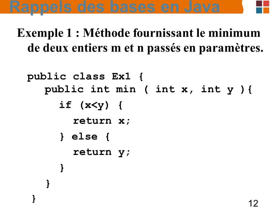 Rappels des bases en Java