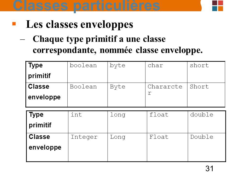 Classes particulières