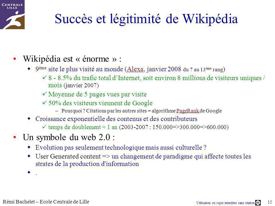 Succès et légitimité de Wikipédia