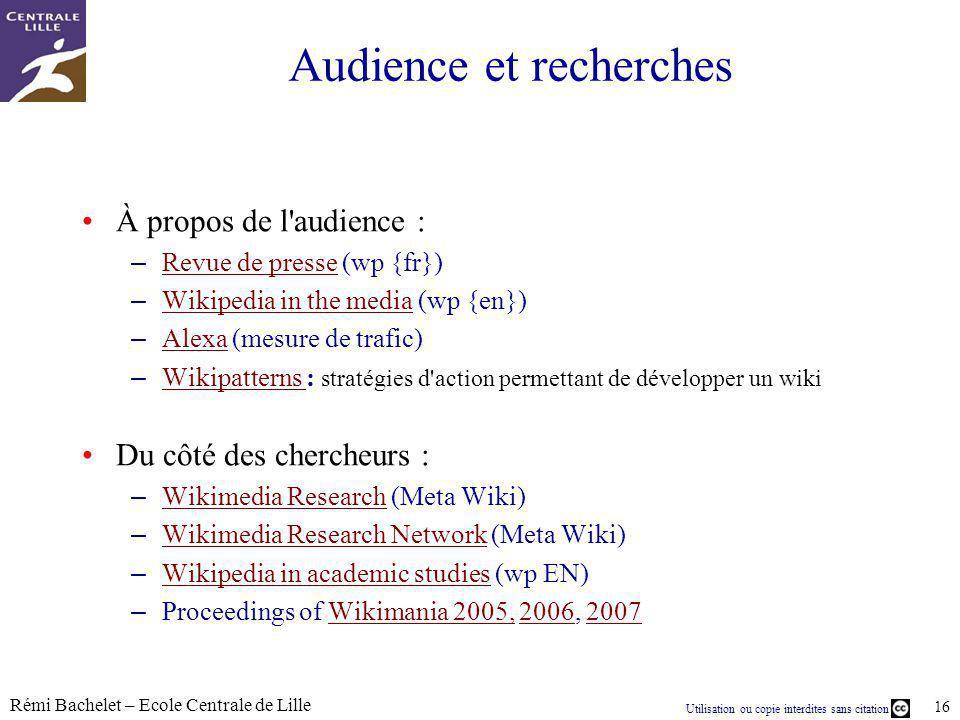 Audience et recherches