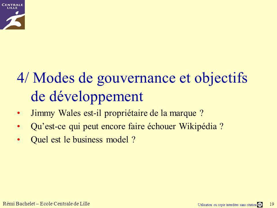 4/ Modes de gouvernance et objectifs de développement