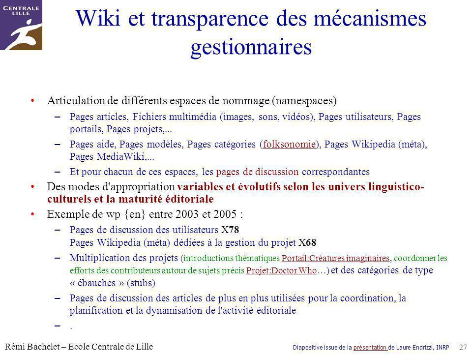 Wiki et transparence des mécanismes gestionnaires