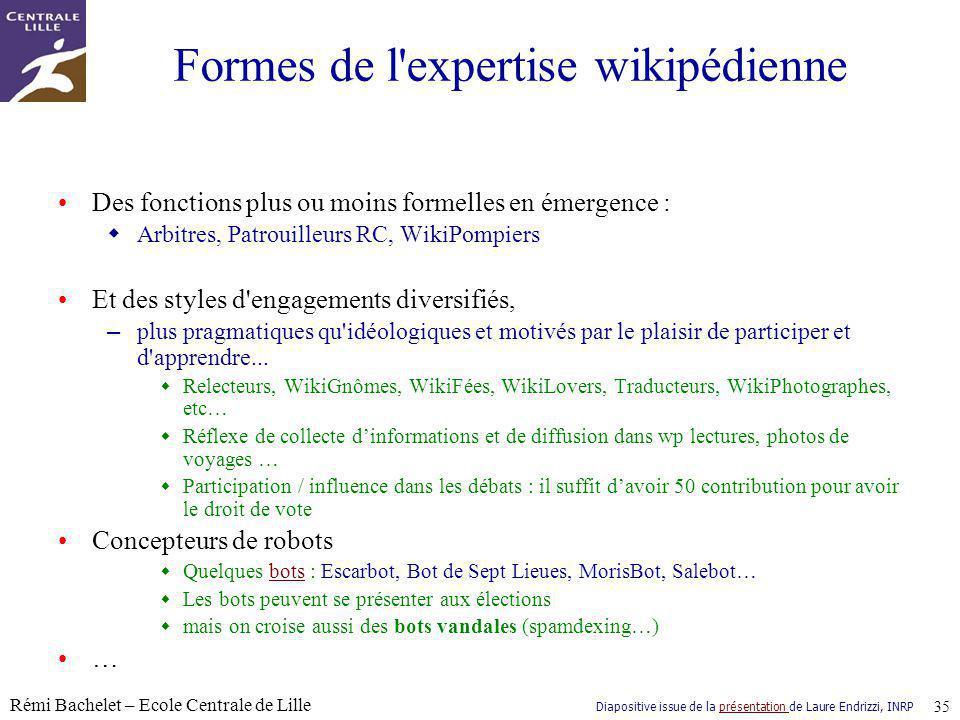 Formes de l expertise wikipédienne
