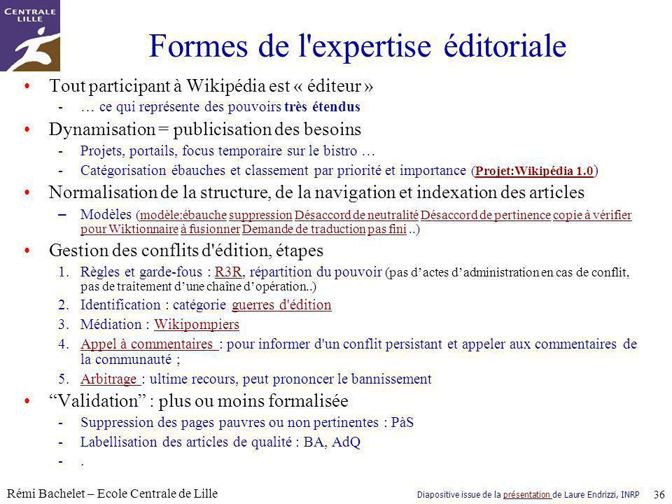 Formes de l expertise éditoriale