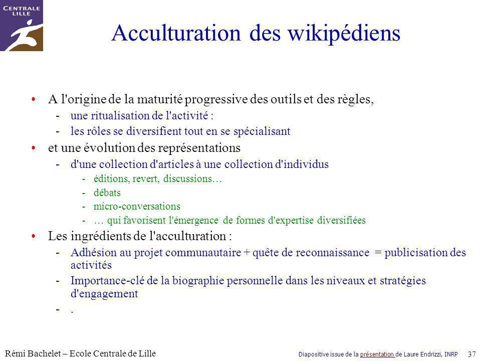 Acculturation des wikipédiens