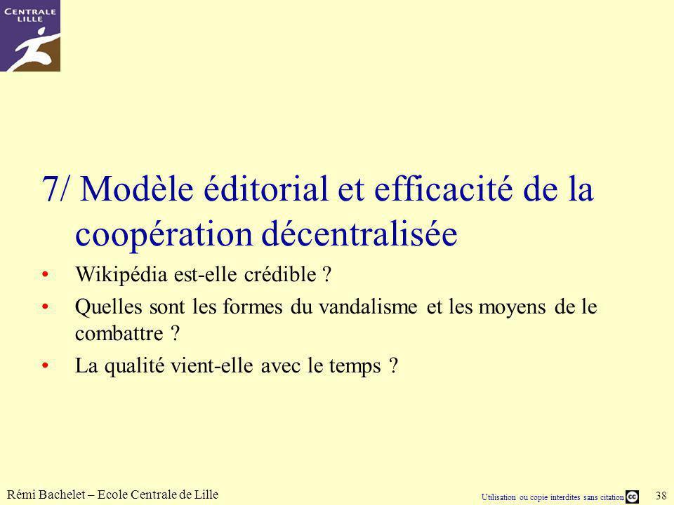 7/ Modèle éditorial et efficacité de la coopération décentralisée