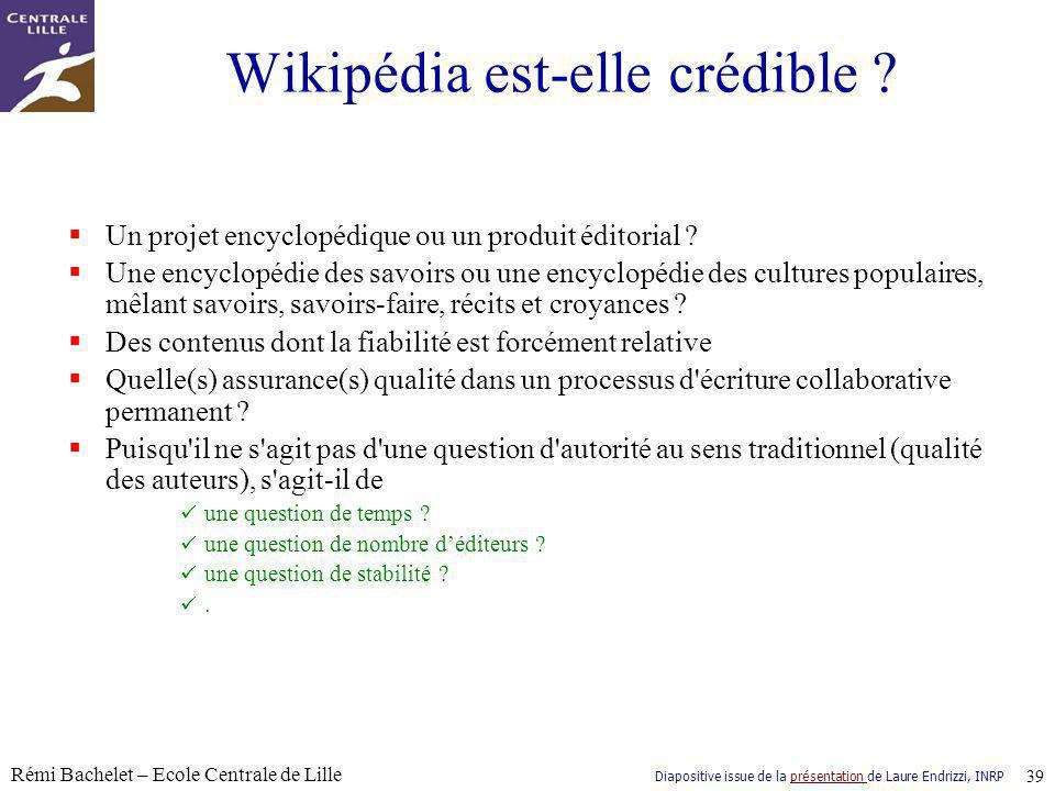 Wikipédia est-elle crédible
