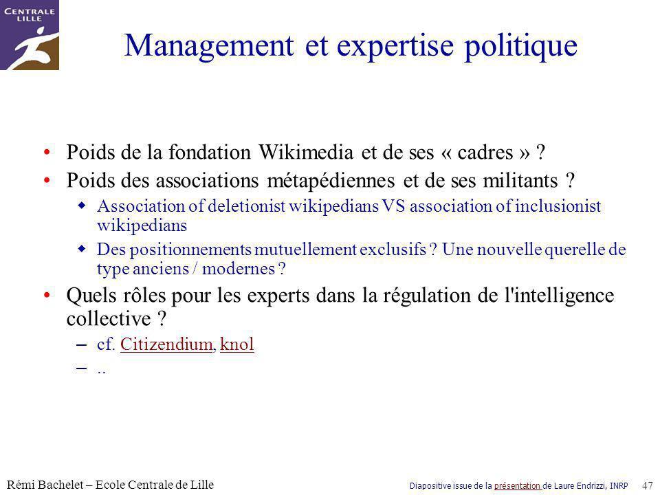 Management et expertise politique