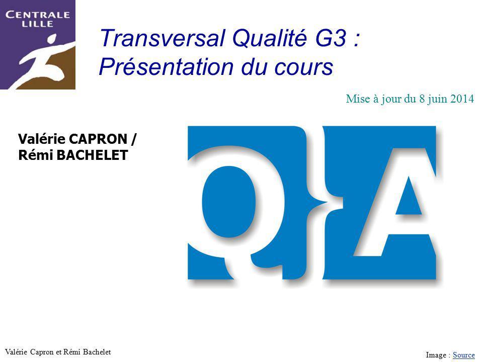 Transversal Qualité G3 : Présentation du cours