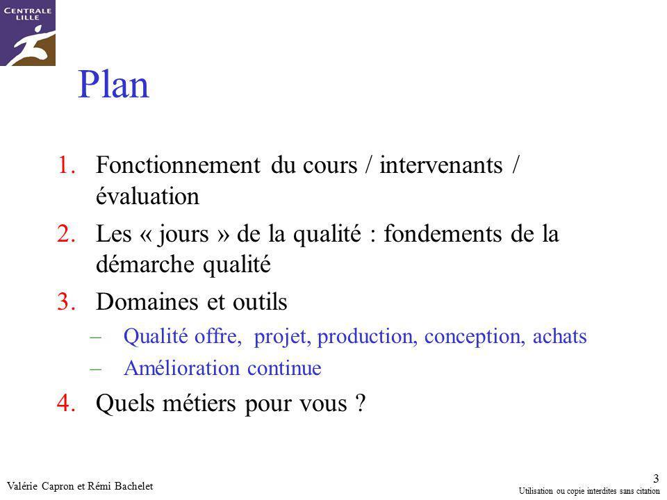 Plan Fonctionnement du cours / intervenants / évaluation
