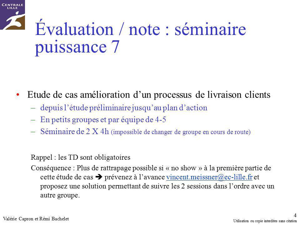 Évaluation / note : séminaire puissance 7