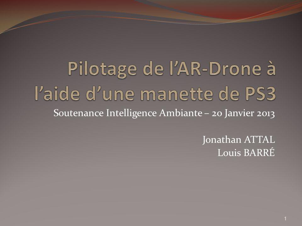 Pilotage de l'AR-Drone à l'aide d'une manette de PS3