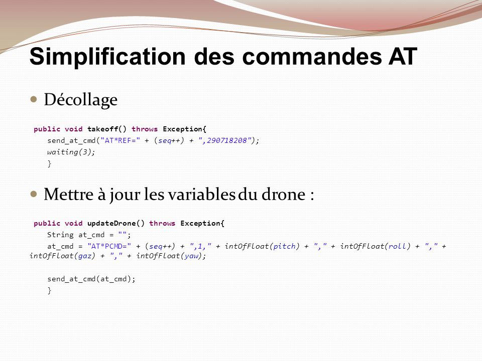 Simplification des commandes AT
