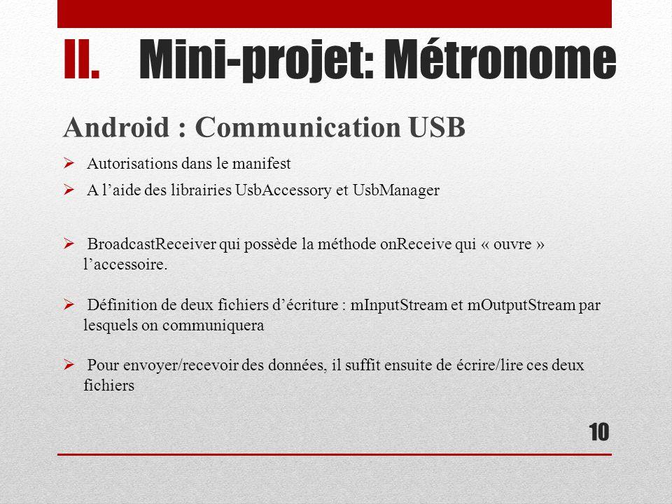 Mini-projet: Métronome