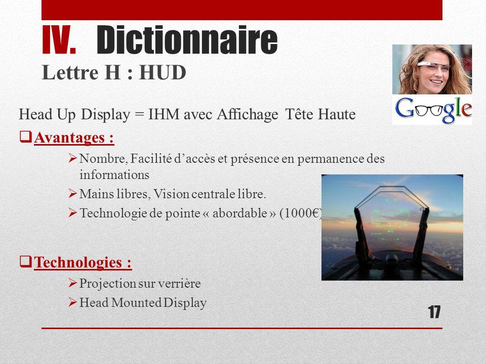 Dictionnaire Lettre H : HUD
