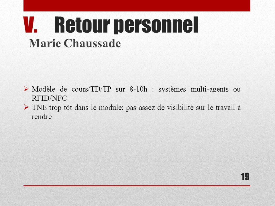 Retour personnel Marie Chaussade