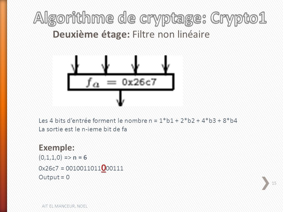 Algorithme de cryptage: Crypto1