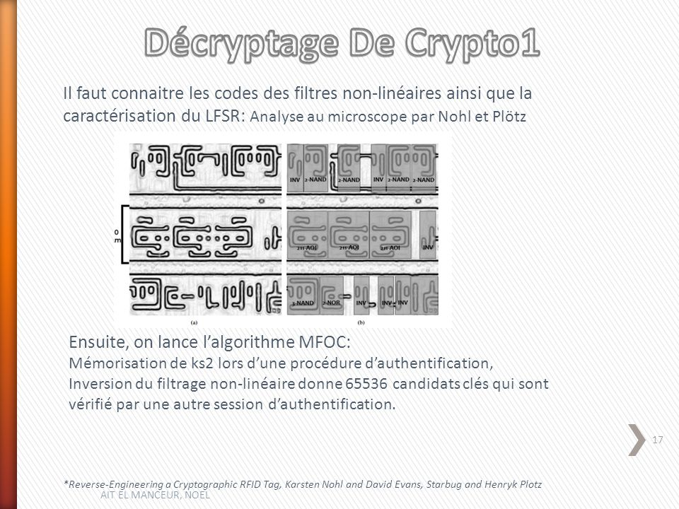 Décryptage De Crypto1