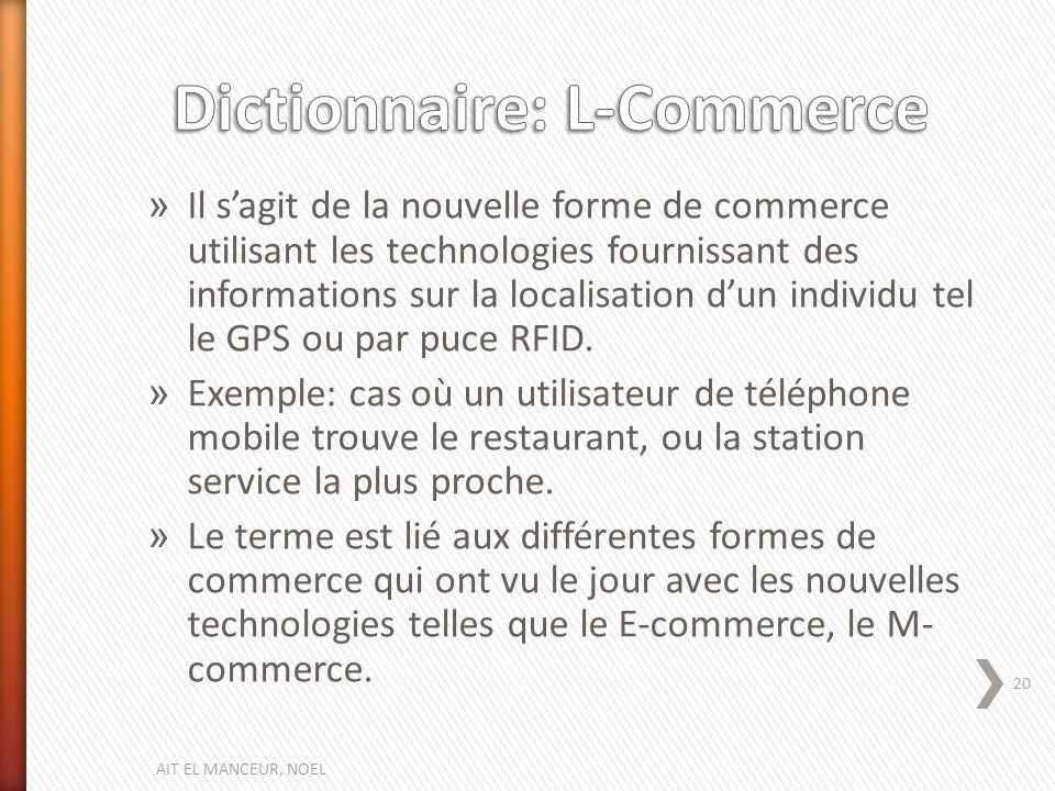 Dictionnaire: L-Commerce