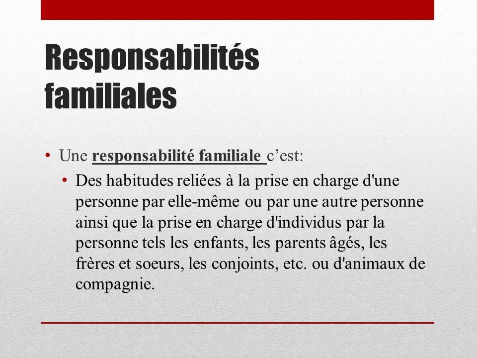 Responsabilités familiales
