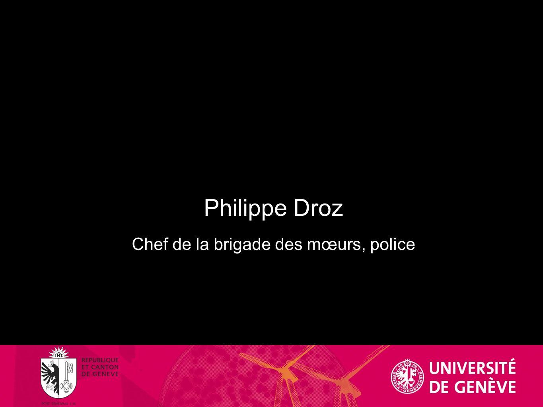 Chef de la brigade des mœurs, police
