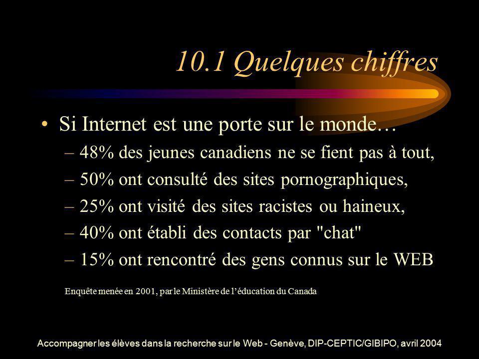 10.1 Quelques chiffres Si Internet est une porte sur le monde…