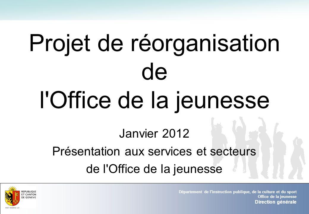 DE LA Projet de réorganisation de l Office de la jeunesse Janvier 2012