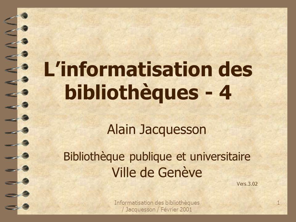 L'informatisation des bibliothèques - 4