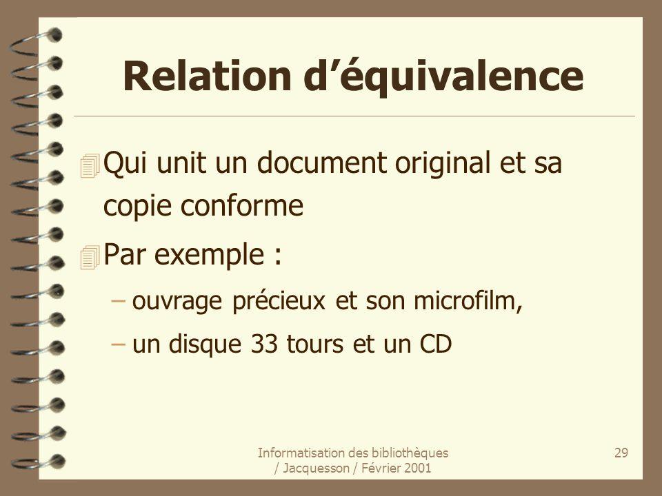 Relation d'équivalence