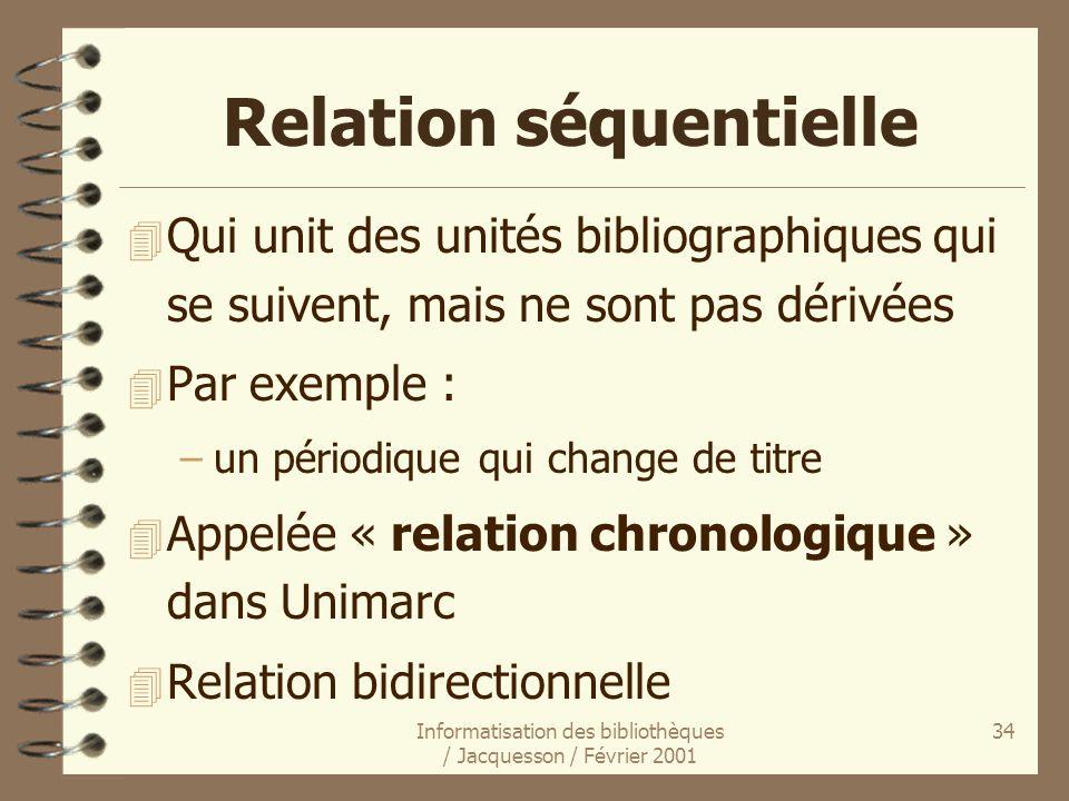 Relation séquentielle