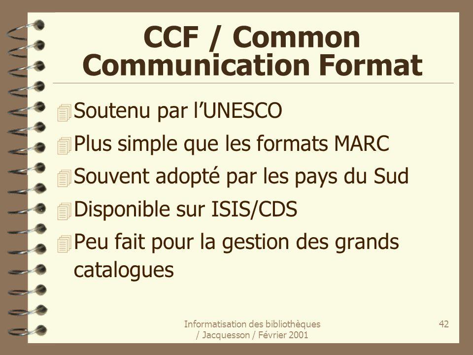 CCF / Common Communication Format